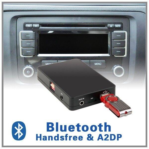bluetooth handsfree a2dp cd changer adapter vw rcd 200 210