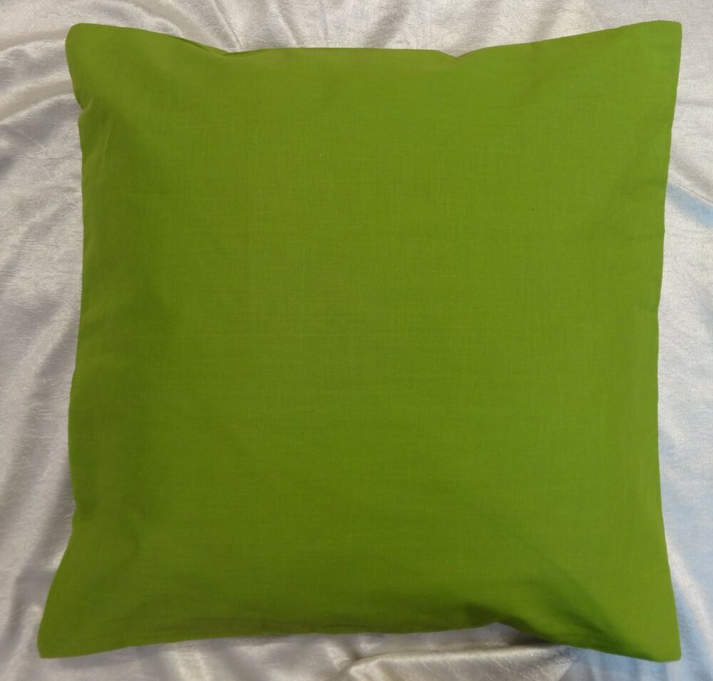 Light Green Decorative Pillow : Light Green Cushion Cover Pillow Case Throw Solid Color Cotton 30x30 Inches eBay