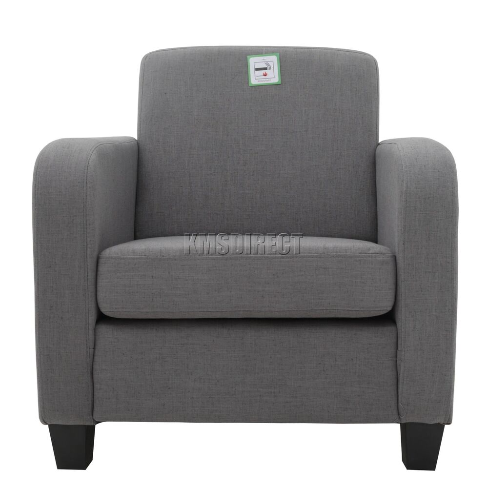 foxhunter tub chair armchair linen fabric dining living. Black Bedroom Furniture Sets. Home Design Ideas