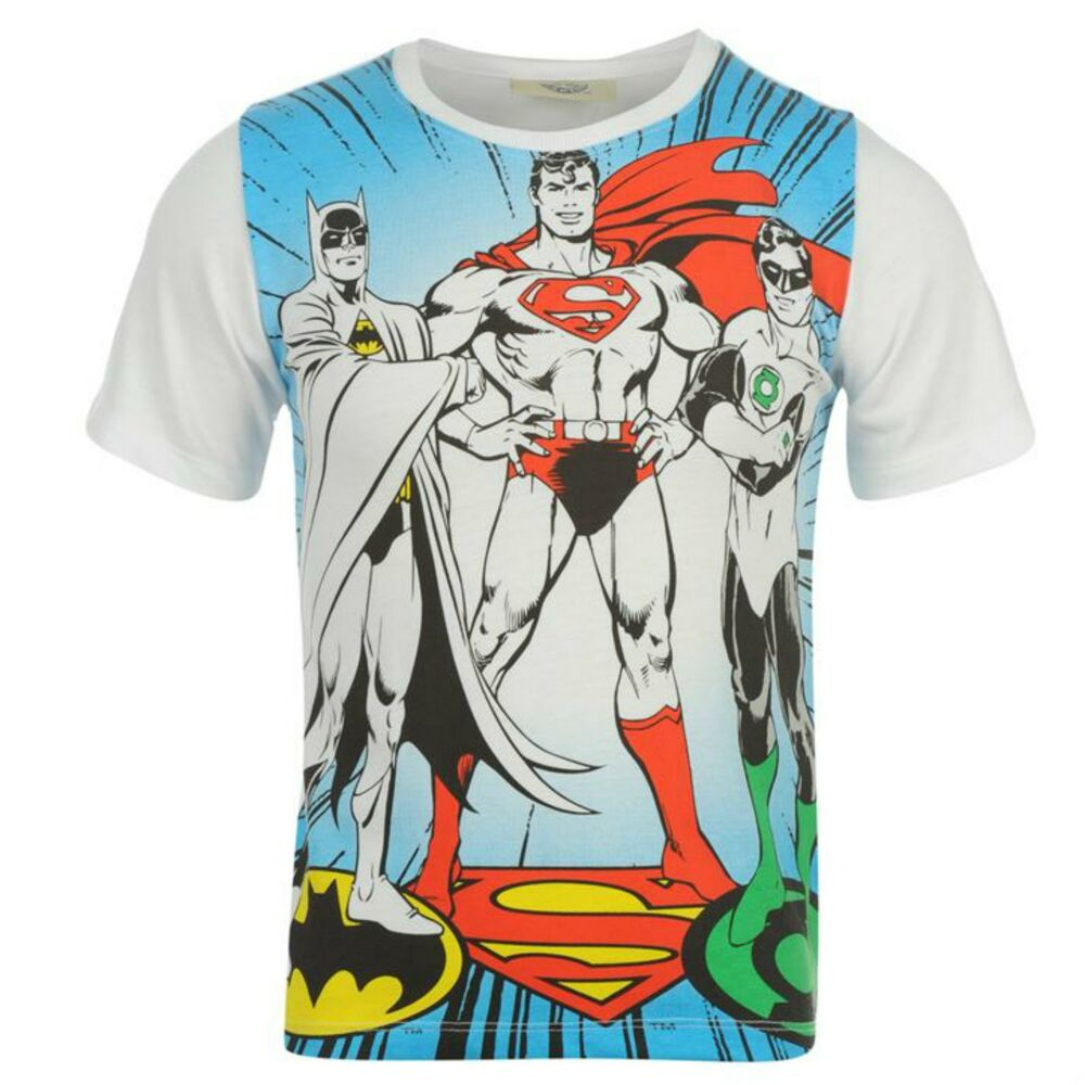 Boys superman batman fancy dress superhero t shirt short Boys superhero t shirts