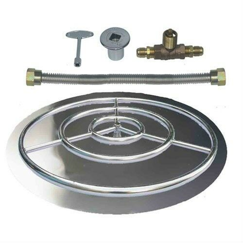stainless steel burner pan with ring kits for natural gas. Black Bedroom Furniture Sets. Home Design Ideas