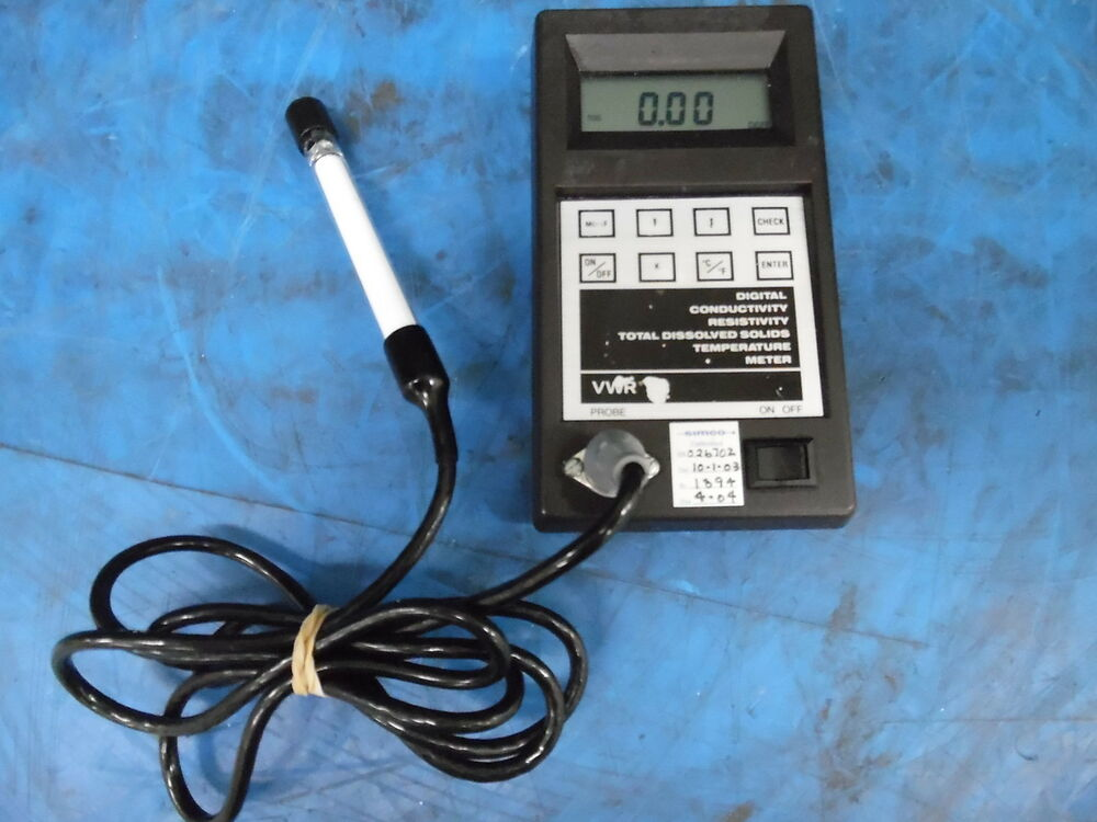 Vwr Conductivity Meter : Vwr digital conductivity resistivity t d s temperature