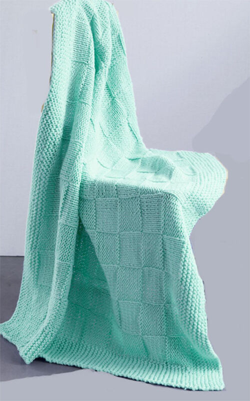 Knitting Pattern - Easy Knit baby blanket in 4 ply, knit this up in no time ...