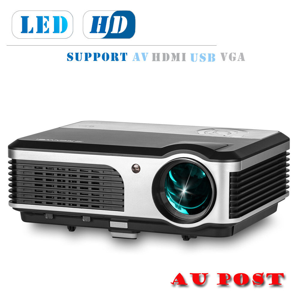 4000lm Projector Hd Lcd Led Home Theater Projector: LCD LED Home Theater System Full HD Projector Movie HDMI