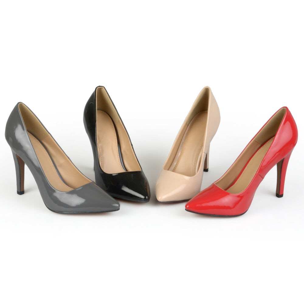 Journee Collection Womens Wide Width Pointed Toe Patent ...