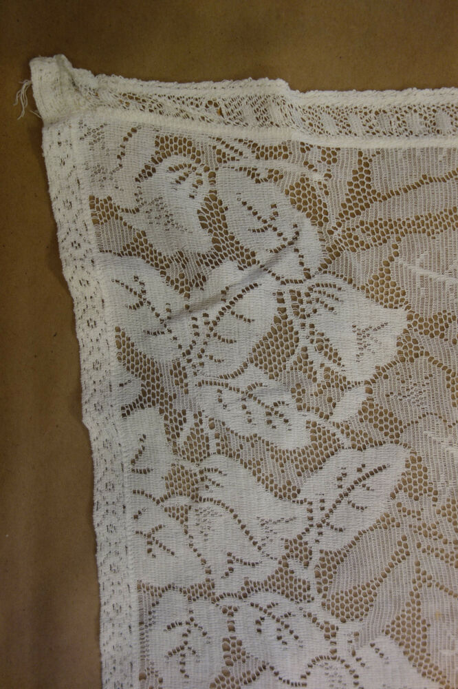 antique vintage ivory victorian lace curtain panel w