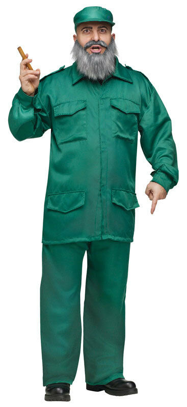 Mens Fidel Castro Cuban Dictator Army Military Fancy Dress Costume Outfit | eBay