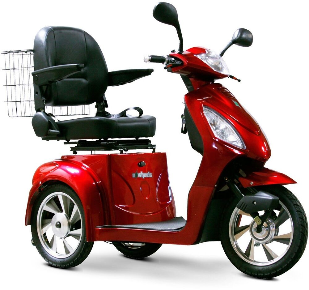 Ewheels 3 Wheel Power Scooter Ew 36 Electric Fast Mobility Aid Red Ebay