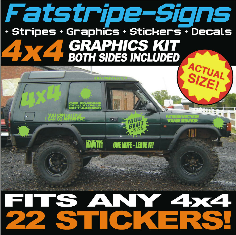 4x4 Offroad Car Graphics Kit Funny Stickers Decals