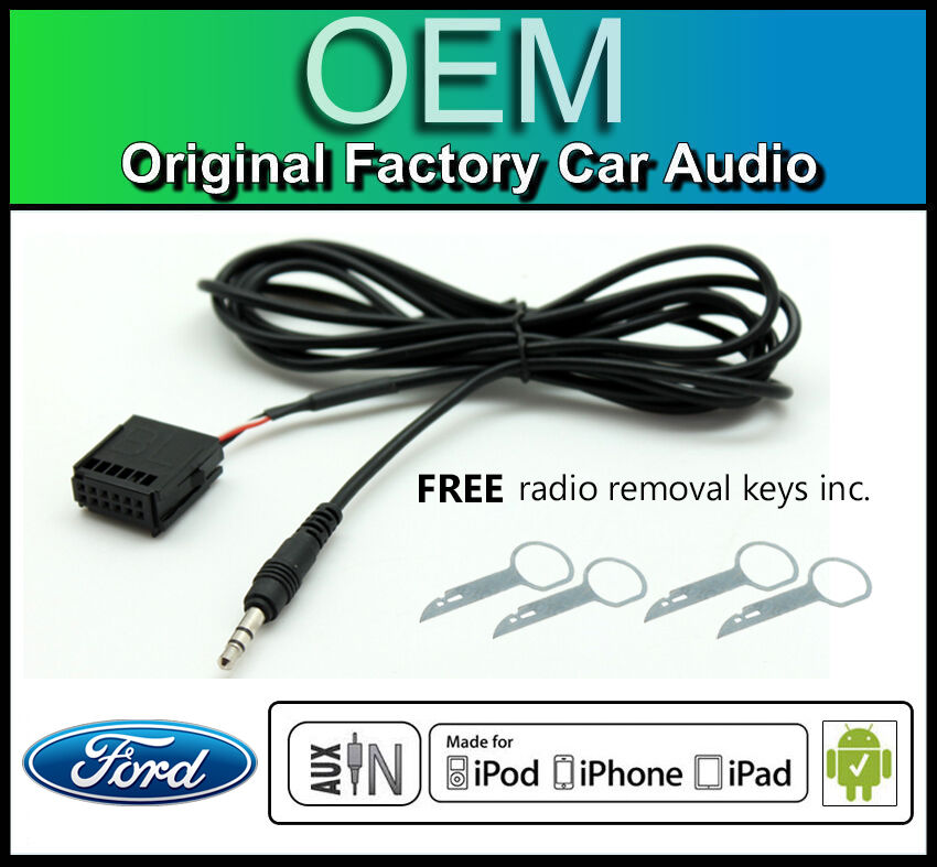 ford transit aux lead ford 6006 cd car stereo aux in. Black Bedroom Furniture Sets. Home Design Ideas