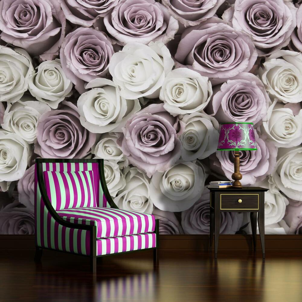 fototapete fototapetentapete tapeten wandbild rosen weiss rosa ii 3fx1627p4 ebay. Black Bedroom Furniture Sets. Home Design Ideas