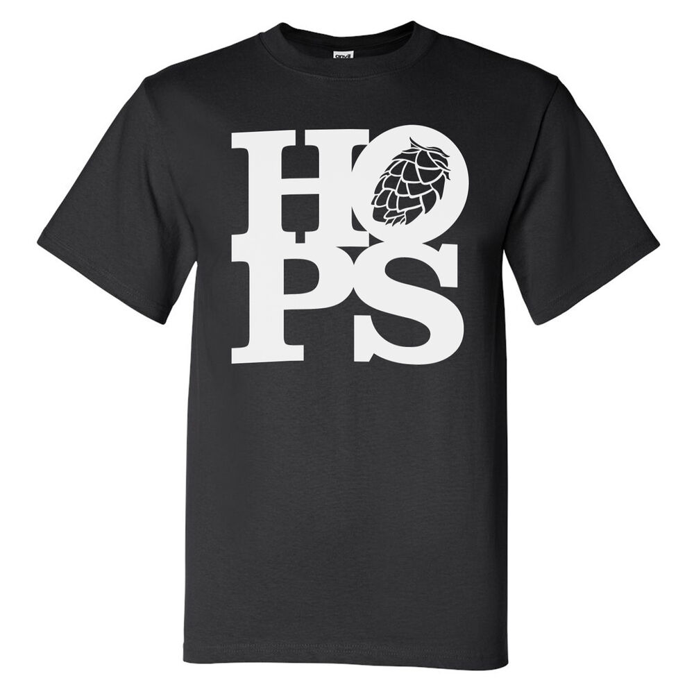 Hops tee shirt barrel aged homebrew craft beer brewery t for Craft brewery t shirts