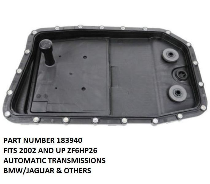 ZF 6HP26 Aftermarket Transmission Pan With Filter Kit Fits