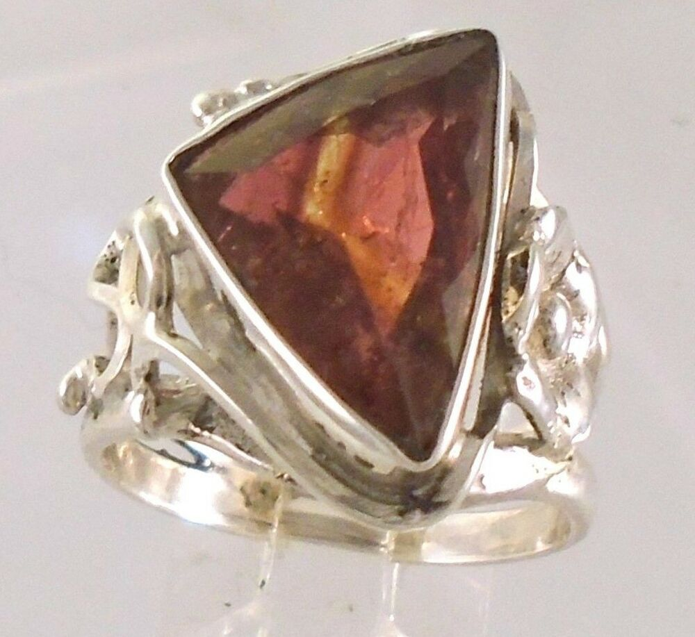 5ct watermelon tourmaline 17x11mm handcrafted sterling