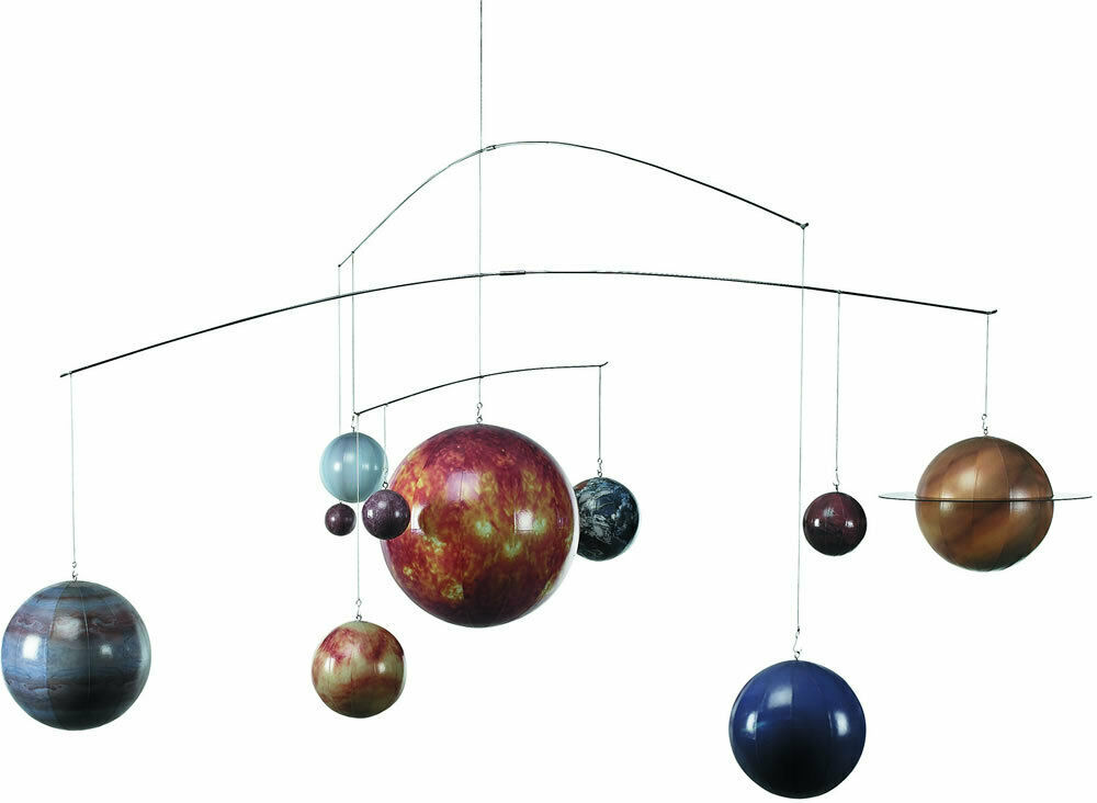 Ten Planet Solar System Globe Mobile Authentic Models