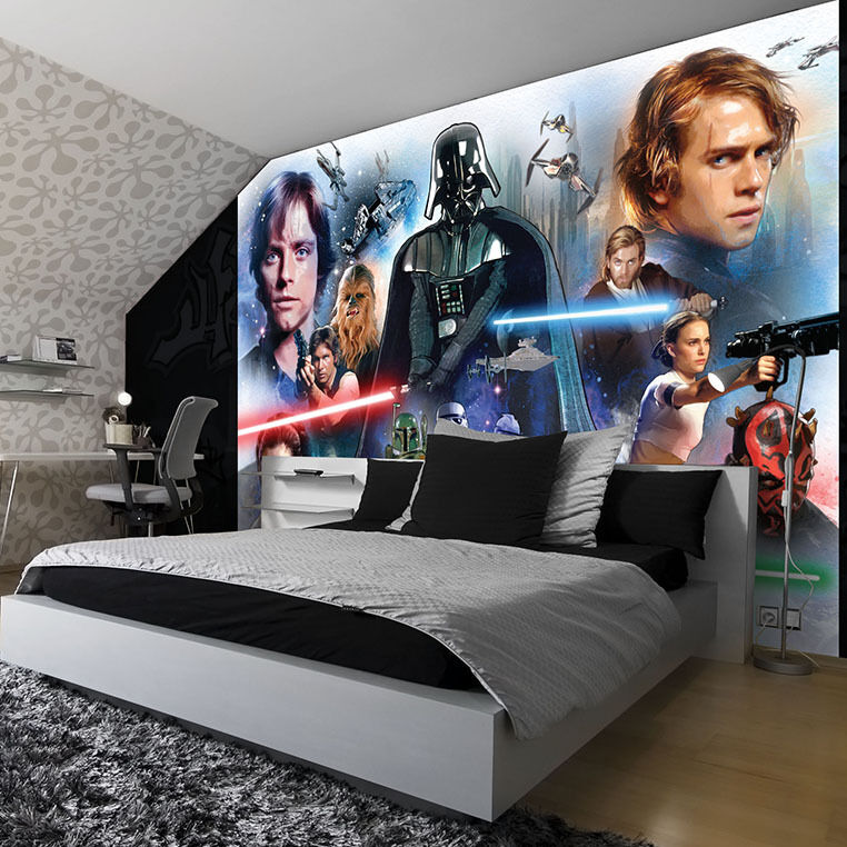 fototapete tapete poster kinder star wars yoda jedi leila. Black Bedroom Furniture Sets. Home Design Ideas
