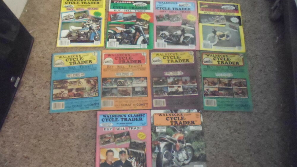 Walneck\'s Classic Cycle Trader Magazine Lot Of 10 | eBay