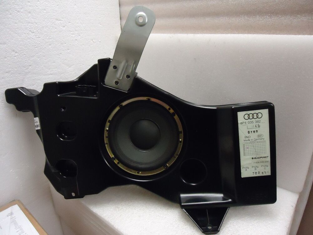 audi a3 8p oem factory blaupunkt subwoofer speaker 8p4 035 382 ebay. Black Bedroom Furniture Sets. Home Design Ideas