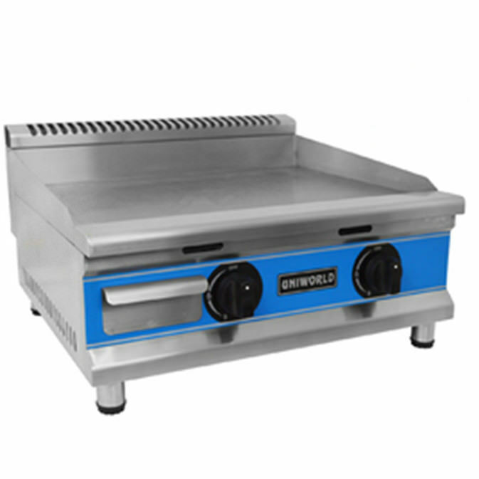 24 Gas Griddle ~ Uniworld quot stainless steel natural gas griddle kitchen