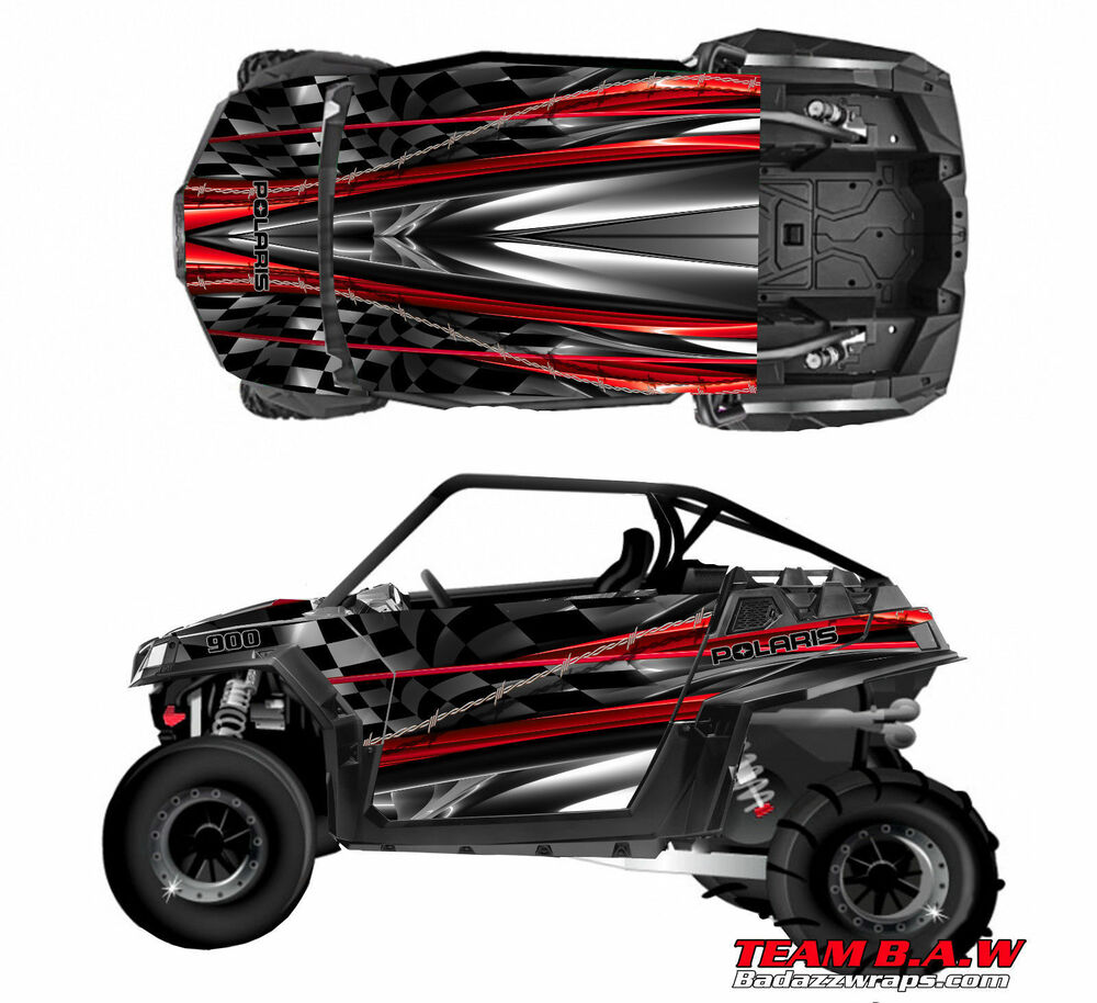 polaris 800 rzr burnout checkered flag design decal. Black Bedroom Furniture Sets. Home Design Ideas