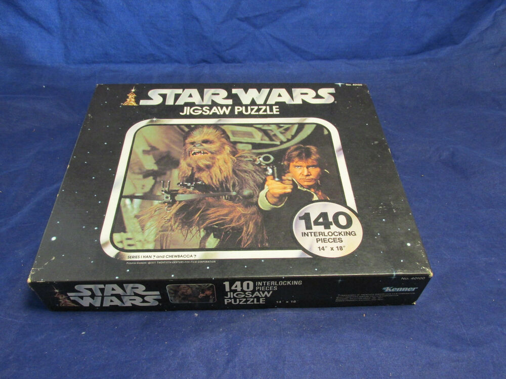original collectible 1977 star wars jigsaw puzzle series i han chewbacca 140pc ebay. Black Bedroom Furniture Sets. Home Design Ideas
