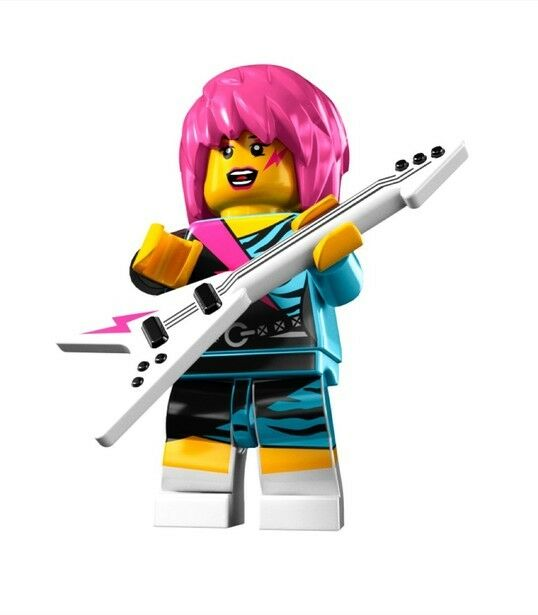 lego punk rocker girl minifigure series 7 new ebay. Black Bedroom Furniture Sets. Home Design Ideas