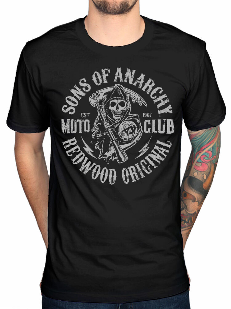 official sons of anarchy moto reaper t shirt mc motor. Black Bedroom Furniture Sets. Home Design Ideas