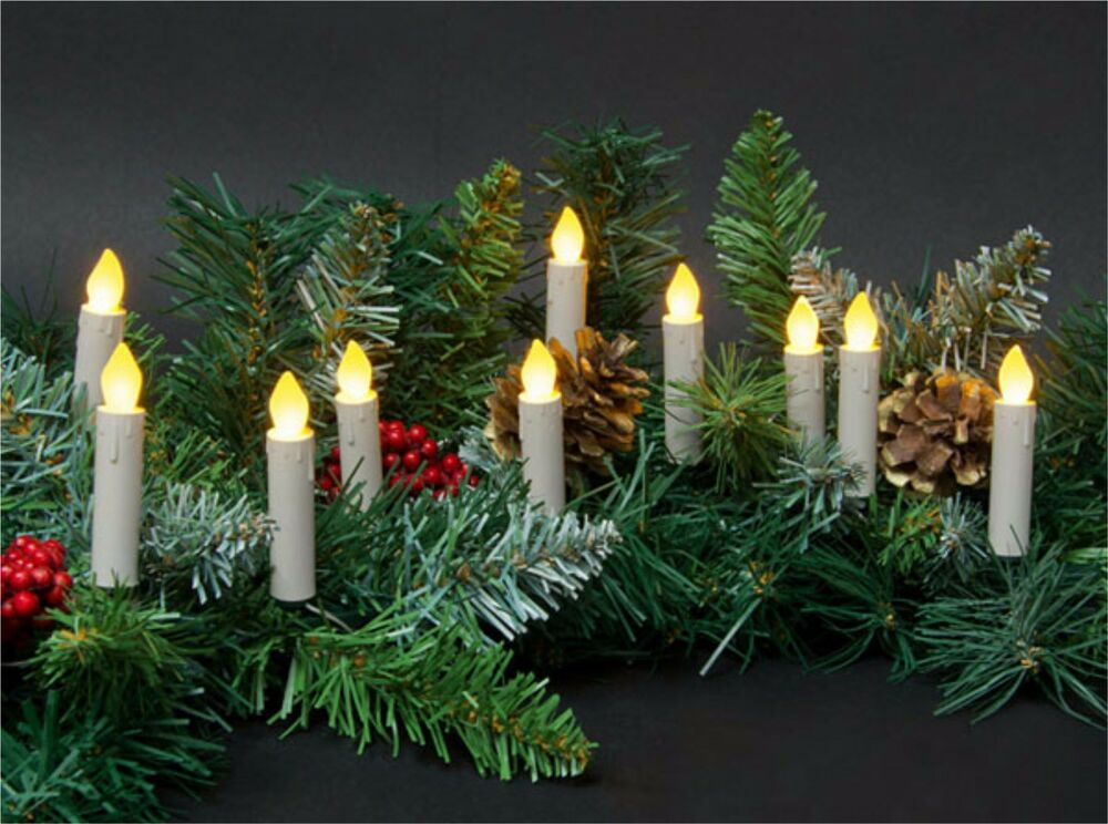 String Lights For Mantelpiece : 10 LED 3in Taper Candle String Lights Clip-On Tree Wreath Mantle *Battery* NIP eBay
