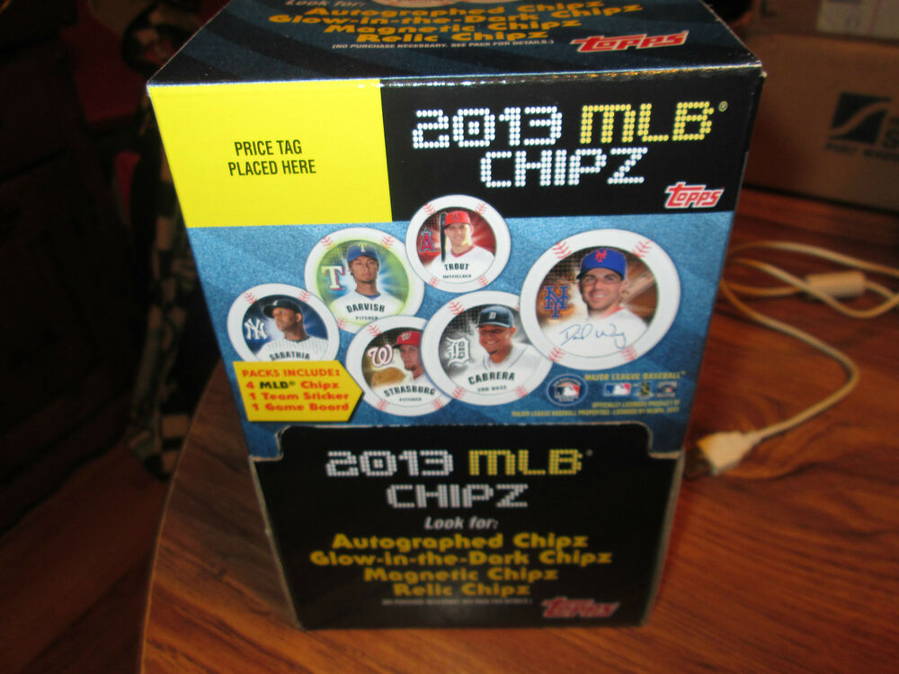 2013 topps mlb chips full box look of autos relic ebay. Black Bedroom Furniture Sets. Home Design Ideas