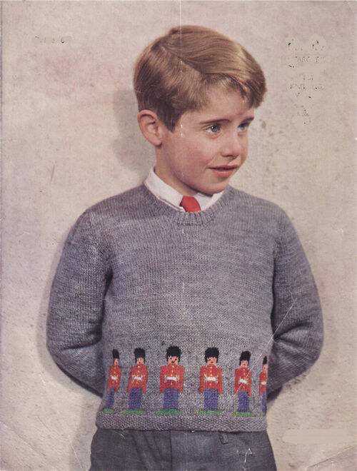 Knitting Pattern For Age : Knitting Pattern - Vintage Guardsman Sweater age 5 years in 4 ply eBay