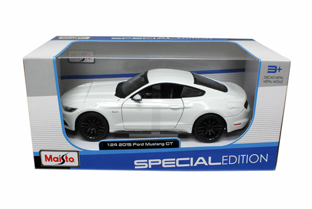 Maisto 2015 Ford Mustang GT 5.0 WHITE 1/24 Diecast Car Model 31508WH ...
