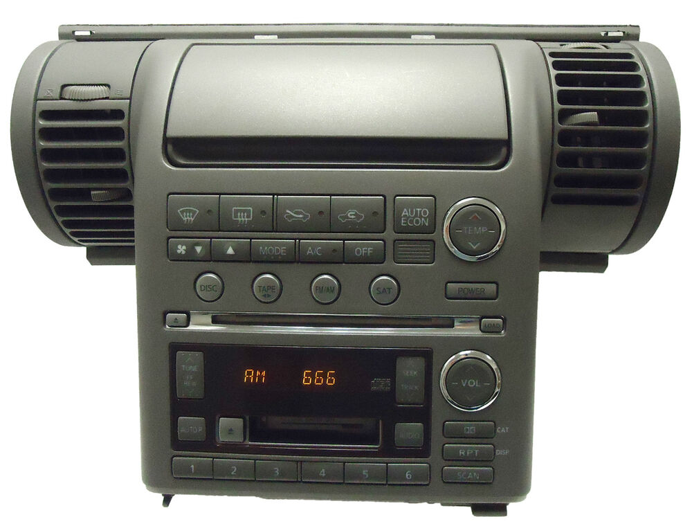 Bose Car Player >> 03 04 INIFNITY G-35 Satellite Radio 6 Disc Changer Tape Cassette CD Player OEM | eBay