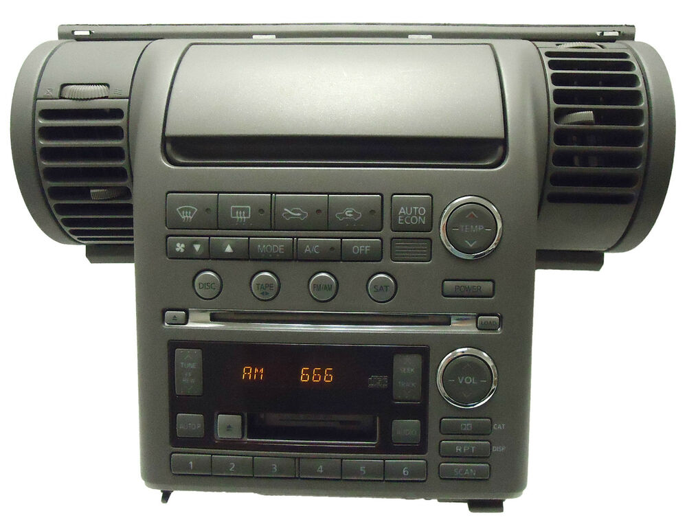03 04 inifnity g 35 satellite radio 6 disc changer tape. Black Bedroom Furniture Sets. Home Design Ideas