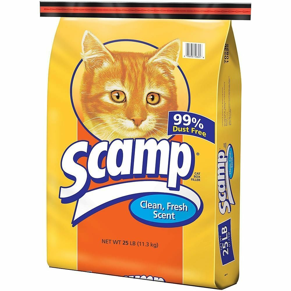 Scamp Cat Box Litter Filler Fresh Scent Dust Free Non
