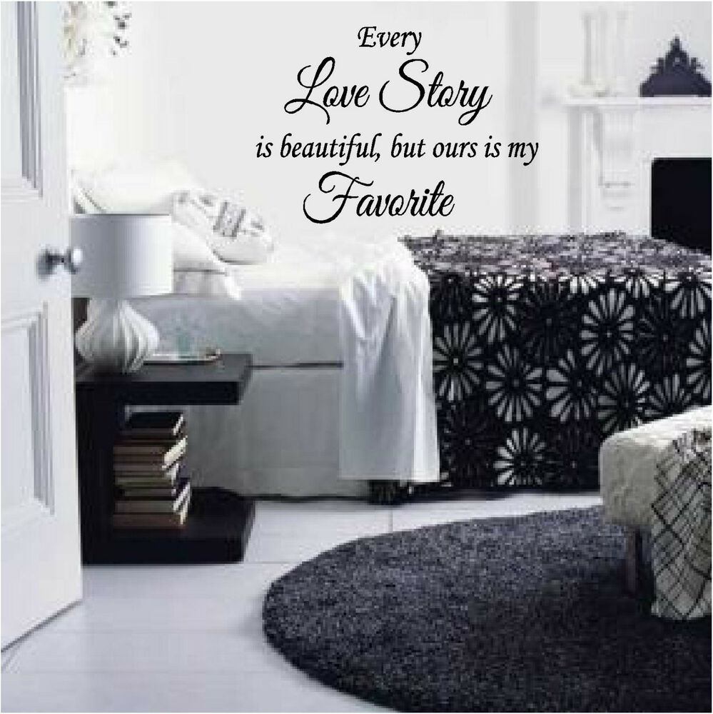 Every Love Story Lettering Words Quote Wall Sticker Vinyl