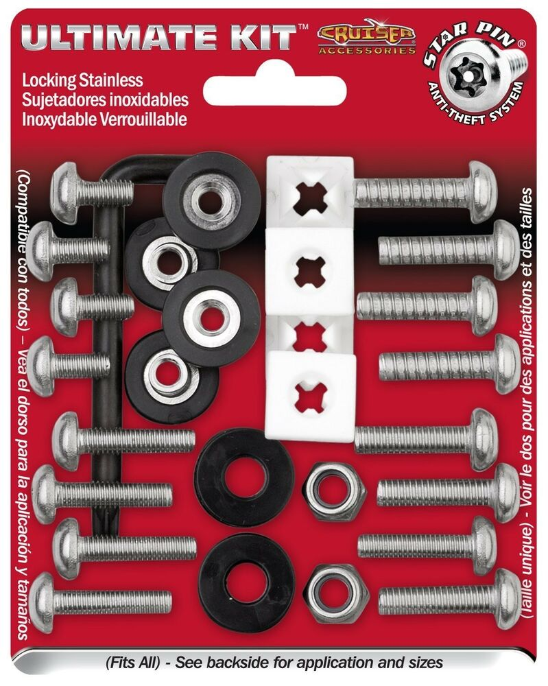 Anti Theft License Plate Fasteners Screws Domestic