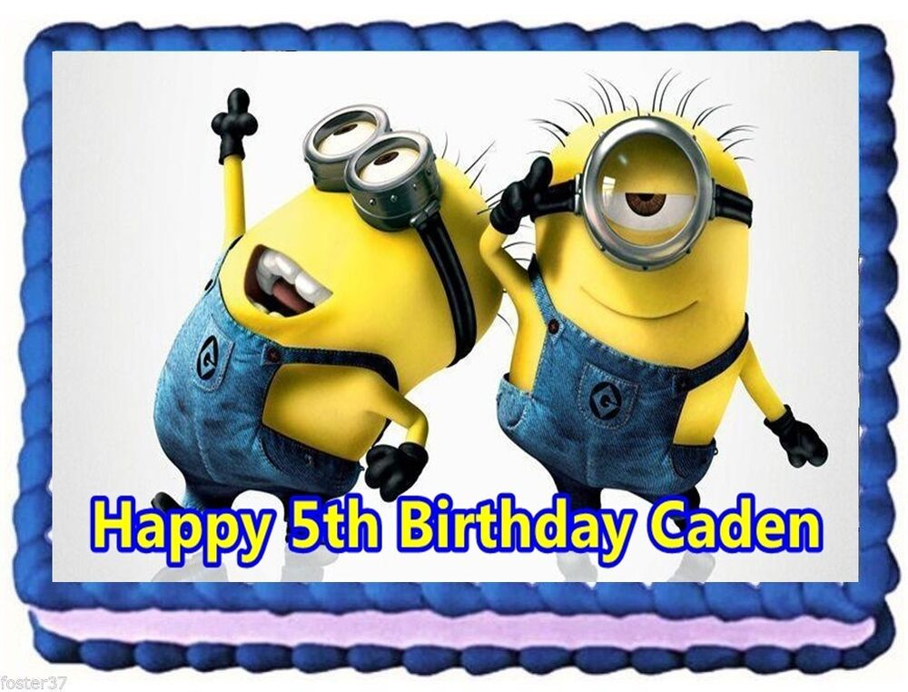 MINIONS EDIBLE CAKE TOPPER BIRTHDAY DECORATIONS eBay