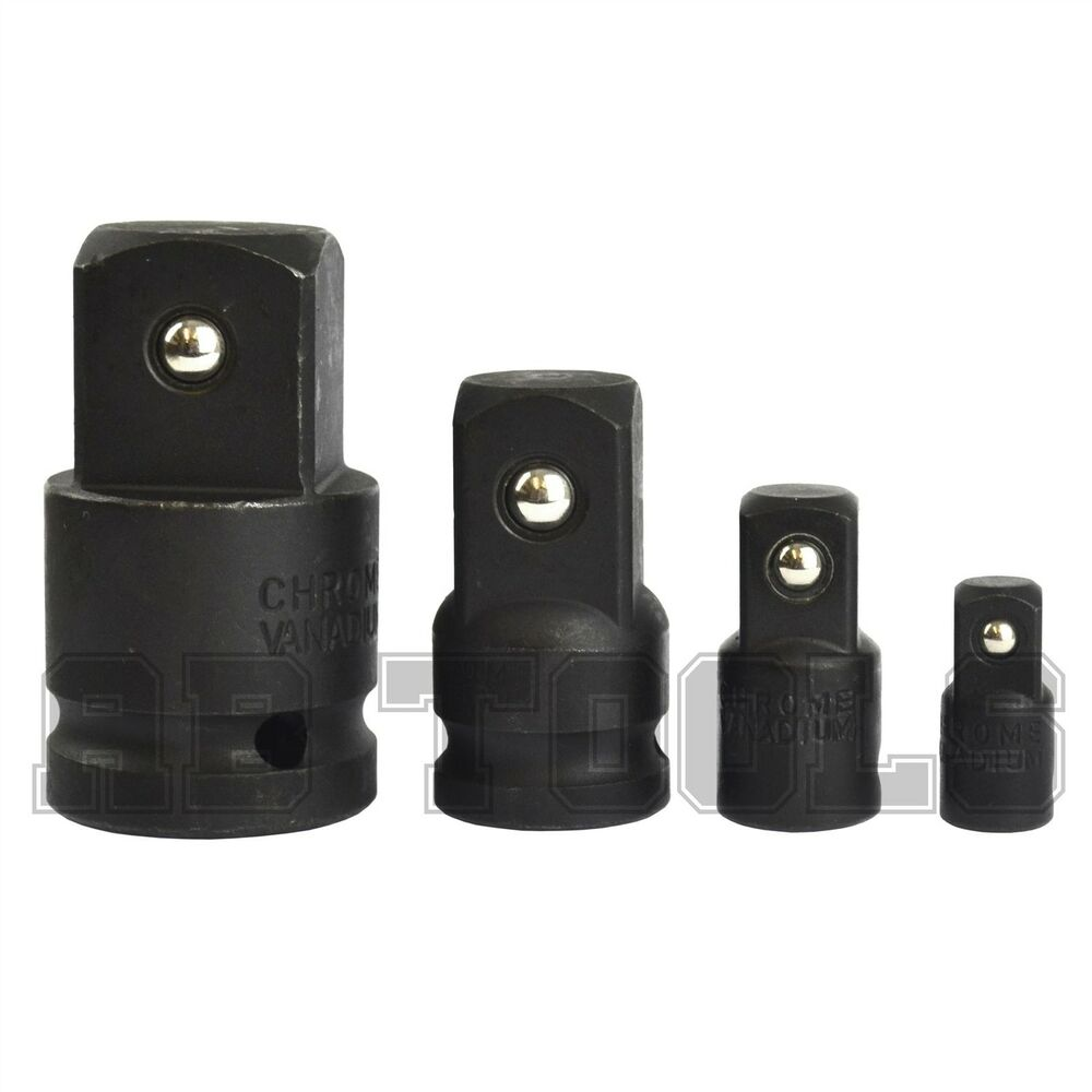 adapter impact adaptor socket 1 4 to 3 8 3 8 to 1 2 1 2 to 3 4 3 4 to 1 ebay. Black Bedroom Furniture Sets. Home Design Ideas