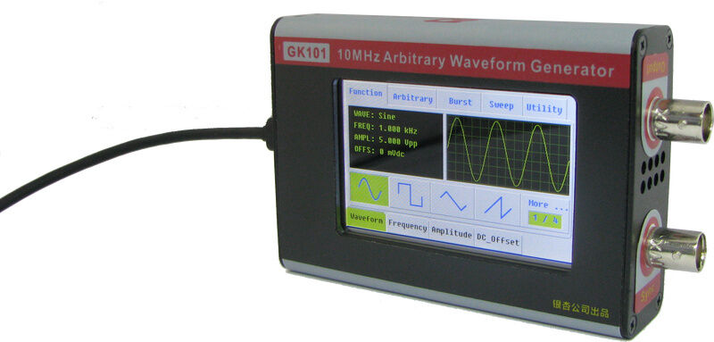 Arbitrary Waveform Generator : Mhz sine square dds function arbitrary waveform signal