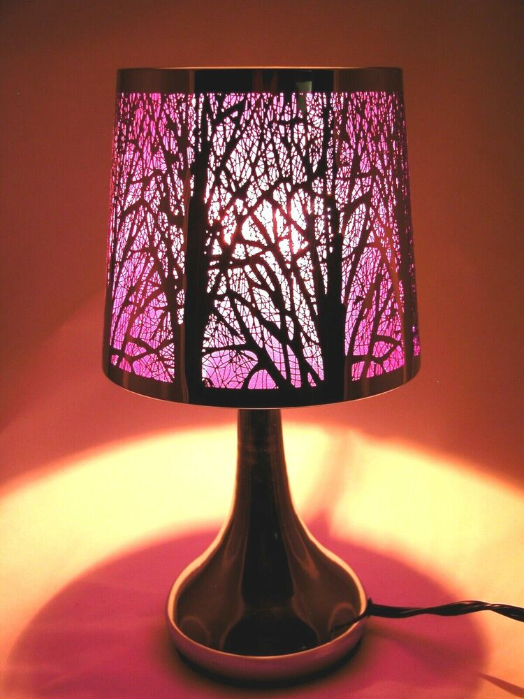 Stainless Steel Table Touch Lamp Tree 12 6 Purple