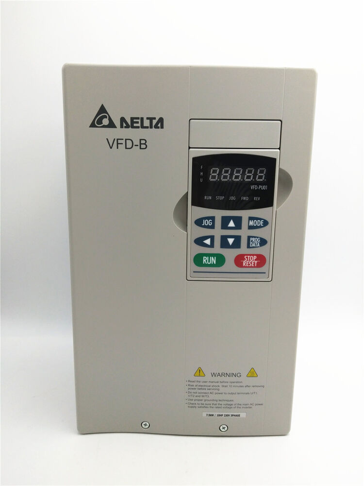 Delta inverter vfd vfd075b23a 3phase 220v 7 5kw 10hp for Vfd for 5hp motor