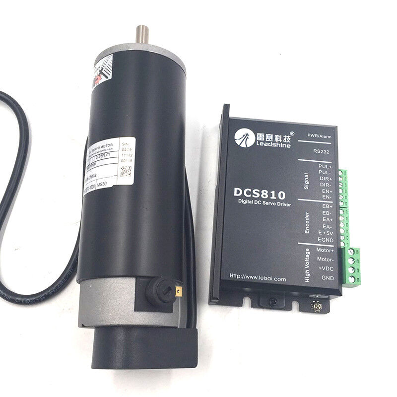 Dc brushed servo motor drive 80w 3400rpm 18 80vdc for Servo motors and drives