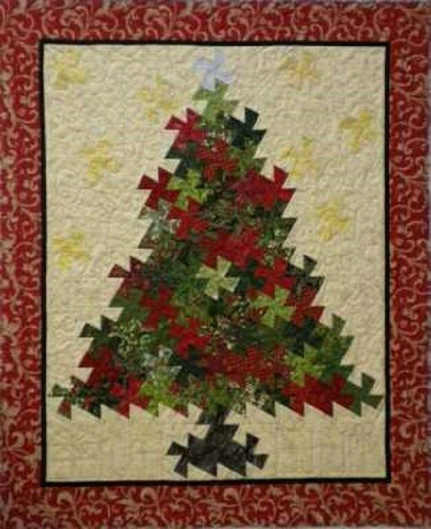 Free Twisted Pinwheel Quilt Pattern : CHRISTMAS TREE PINWHEEL TWIST - Martha D. Zines Quilting Pattern Twister eBay