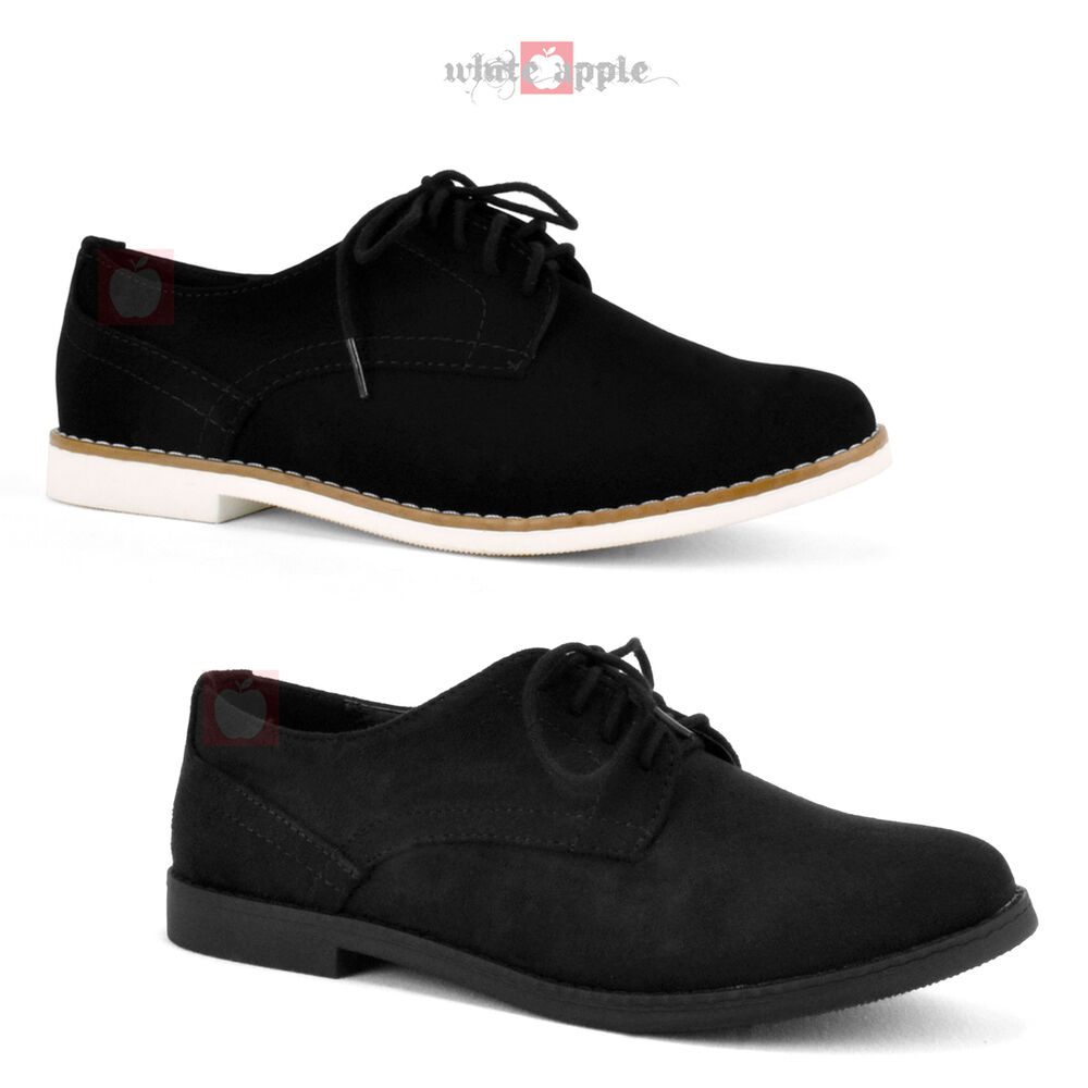 White Faux Leather Shoes Oxford