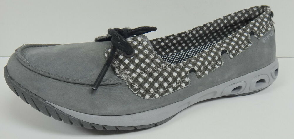 Columbia sunvent boat pfg women 39 s ladies gray boat deck for Columbia fishing shoes