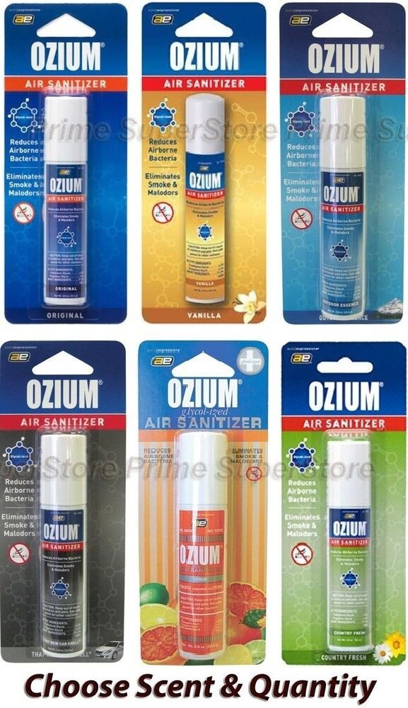 Car Odor Eliminator >> OZIUM Scent Air Sanitizer Freshener 0.8 Car Home Office Smoke & Odor Eliminator | eBay