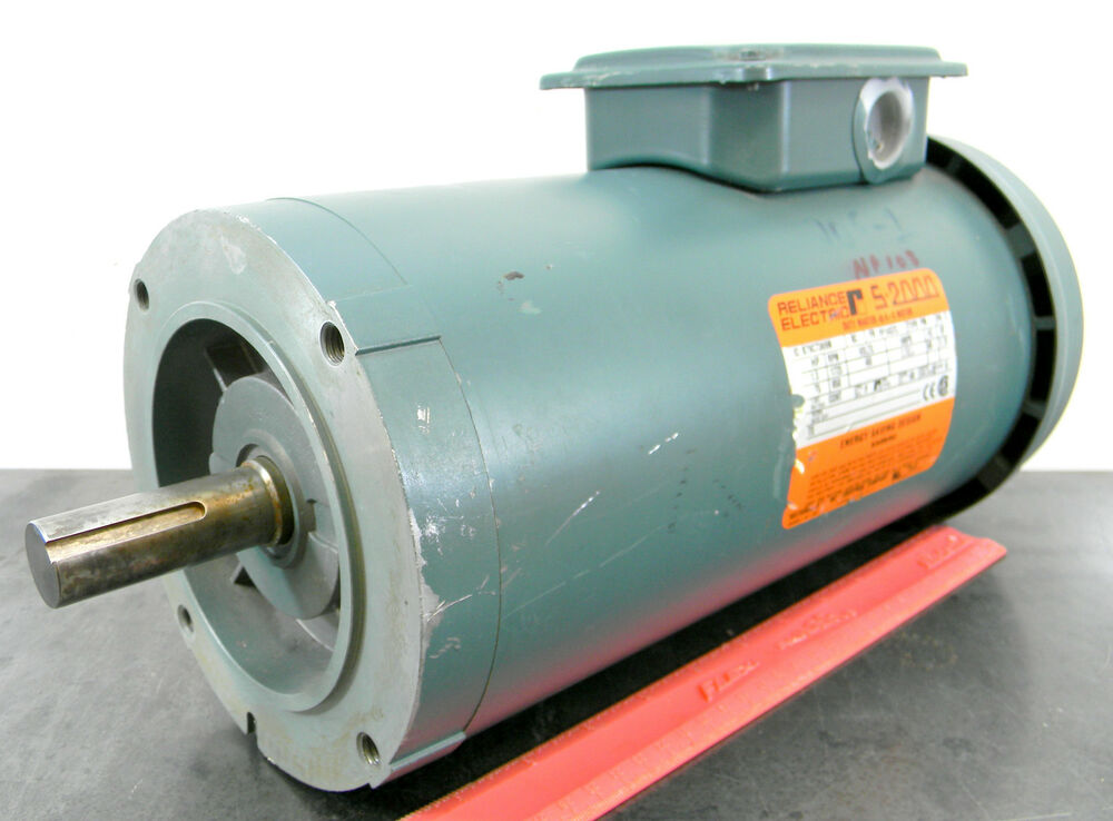 Reliance b79c7369m 1 5 hp 1725 rpm electric motor 3 phase for 1 5 hp 3 phase electric motor