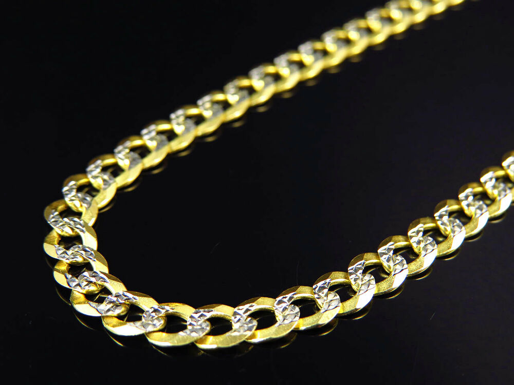 Diamond Cut Yellow Gold Chain