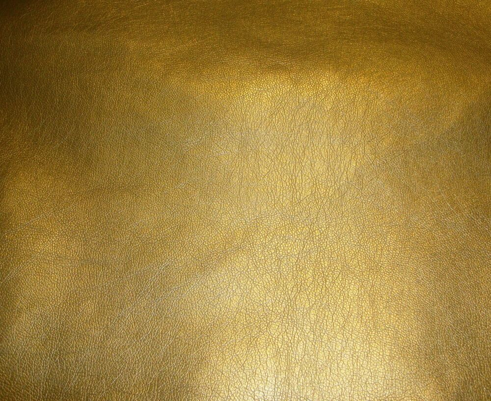 vinyl faux leather gold metallic ford car sofa vinyl fabric yard 54 upholstery ebay. Black Bedroom Furniture Sets. Home Design Ideas