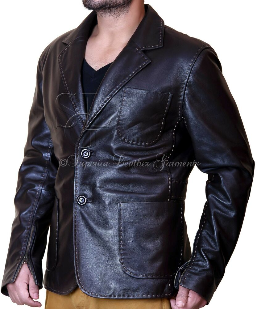 Blazers In Statham: FAST AND FURIOUS 7 JASON STATHAM HANDMADE LEATHER JACKET